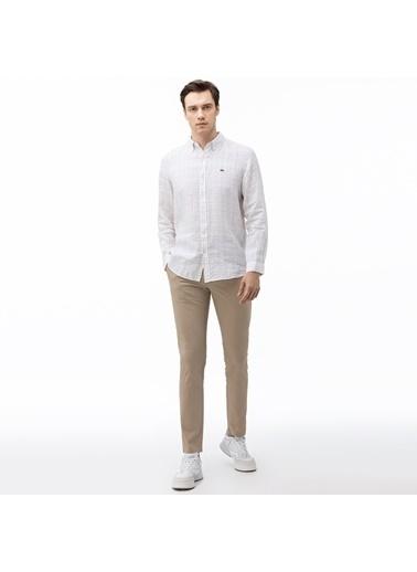 Lacoste Erkek Slim Fit Açık Pantolon HH0018.18K Kahve